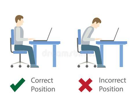 posizione seduta corretta posizione di seduta corretta e sbagliata al computer