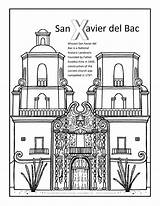Coloring Xavier San Bac California Missions Books Arizona Template Visit sketch template