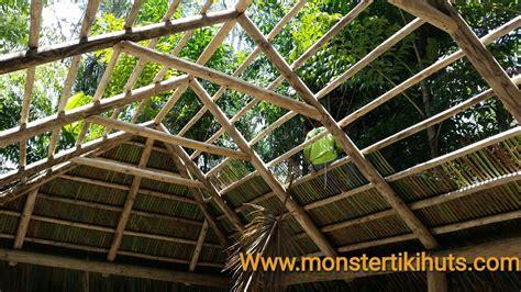 Tiki Hut Roof Construction by Repair Rethatching Of Tiki Huts Tiki Hut Repairs
