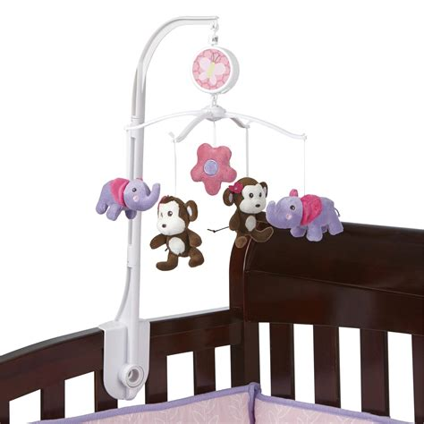 musical mobile for crib bedding by nojo tumble jungle musical mobile baby