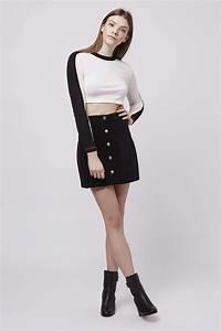 Black Cord A Line Skirt - Redskirtz