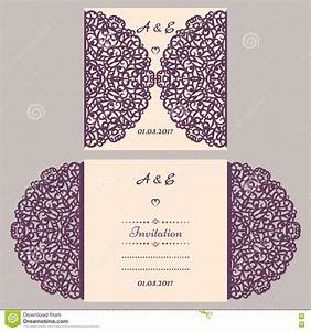 lazercut vector wedding invitation template wedding With wedding invitation templates 5x5