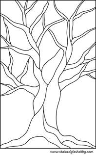 Tree Stained Glass Patterns Free