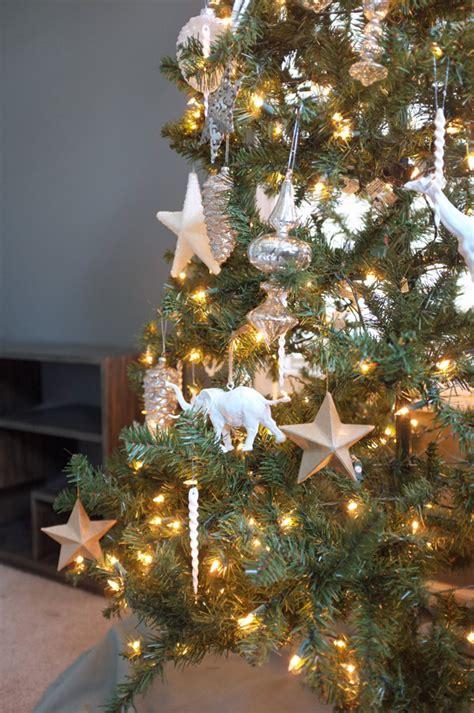mercury glass  white christmas tree
