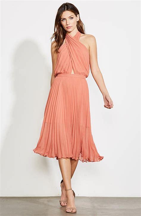 womens ali jay soho house pleated chiffon halter dress