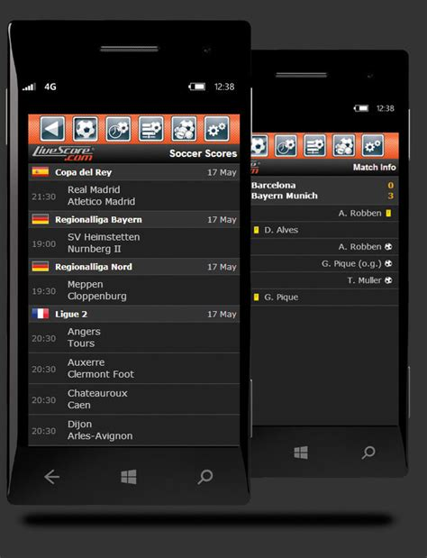 Livescore123.com doesn't just relay the scores, it also gives the details. Mobile LiveScore for sport scores & results| LiveScore.com