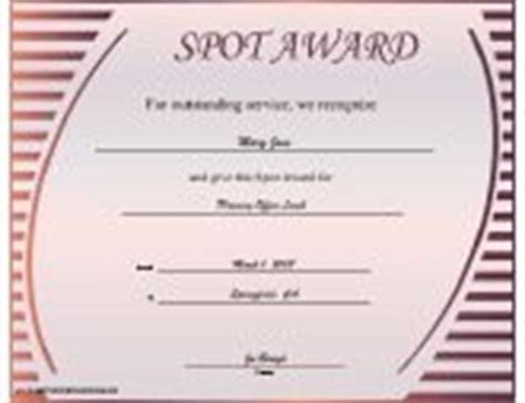 Spot Award Certificate Template by Business Certificates Free Printable Certificates