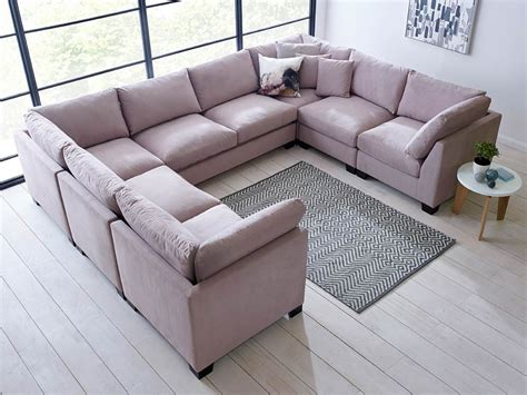 micro fiber sofa isabelle u shape sectional living it up