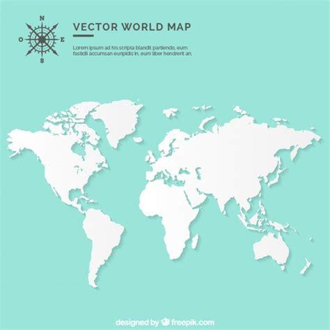 Carte Monde Vierge Vectoriel blank world map vector free