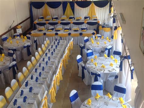 royal blue  yellow wedding decor wedding decor