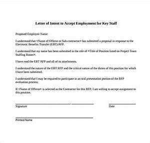 Intent Letter For Job Application 10 Letter Of Intent For A Job Template Download For Free