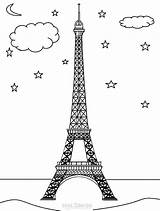 Eiffel Tower Coloring Pages Printable Monuments Cool2bkids Paris Building Colouring France Towers Drawing Drawings Visit Getcoloringpages 32kb 900px sketch template