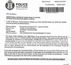Fixed Penalty Notice  Scottish Driving Law