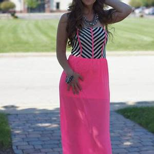 My Favorite Color Is Neon Maxi Dress from Blue Layne Boutique