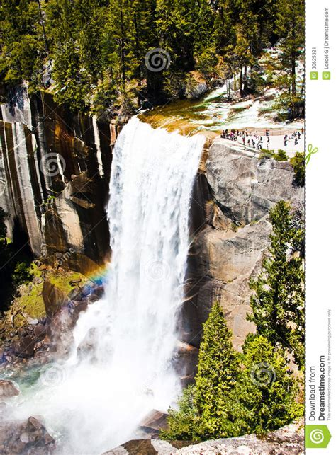 Rainbow Across Vernal Falls Yosemite National Park
