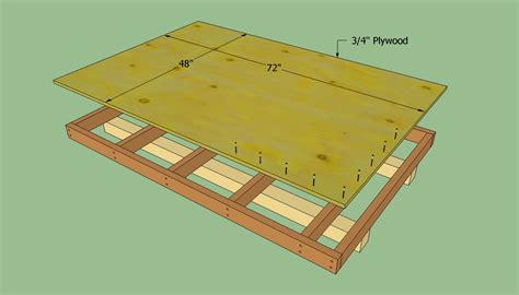 building a shed floor how to build a lean to shed howtospecialist how to