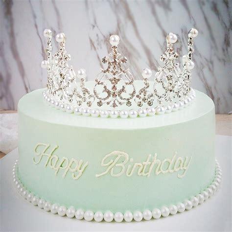 crystal diamonds pearl crown cake toppers wedding
