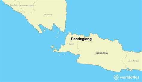 pandeglang indonesia pandeglang banten map