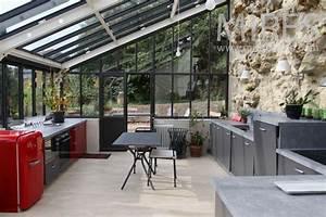 Grande Cuisine Salle  U00e0 Manger Sous La V U00e9randa  C0775