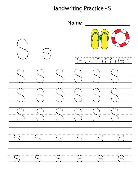 letter writing worksheets for preschool letter s worksheets kiddo shelter 270