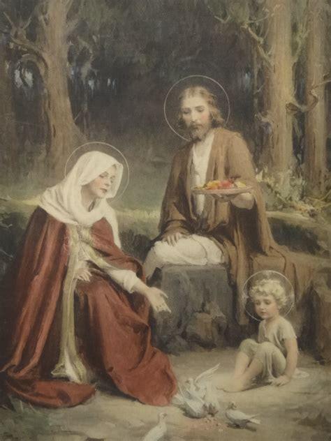 the holy family jesus mary joseph by c bosseron