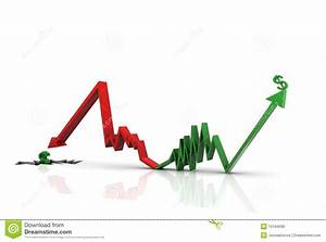 Digital Illustration Of Inflation And Recession Gr Royalty ...