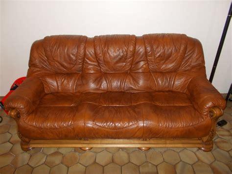 ensemble cuir marron clasf