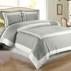 gray light gray hotel duvet cover set wrinkle resistant cotton free shipping