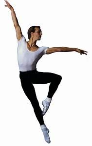 Illustration of a male ballet dancer, ink and...
