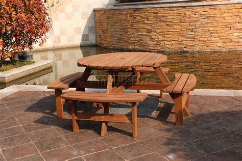 garden patio  seater wooden pub bench  picnic table