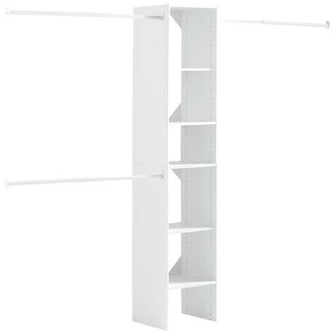 hton bay 16 in w x 82 5 in h custom closet organizer