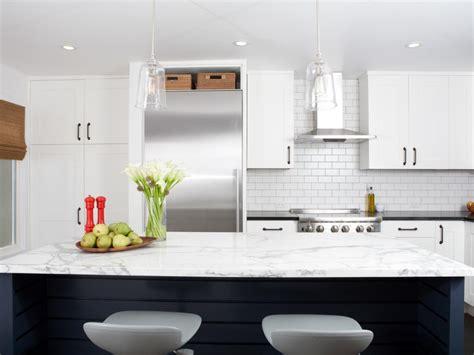 industrial modern white kitchen  hgtv