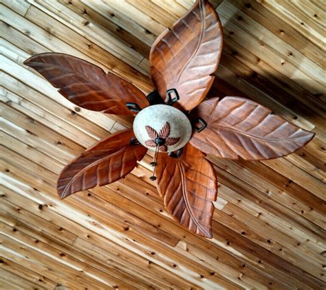 wood leaf ceiling fan cool beachy home ideas