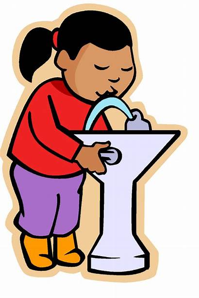 Drinking Water Fountain Clipart Drink Clip Kid