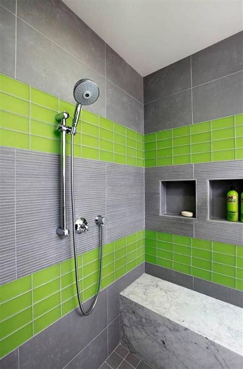 amazingly refreshing lime green bathrooms    love