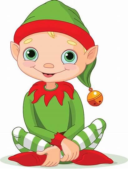 Elf Clipart Christmas Elves Smiling Clip Sitting
