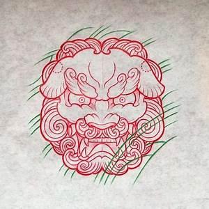 :Foo dog tattoo design Gao Tattoo