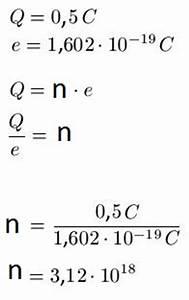 Elementarladung Berechnen : elektrische ladung ~ Themetempest.com Abrechnung