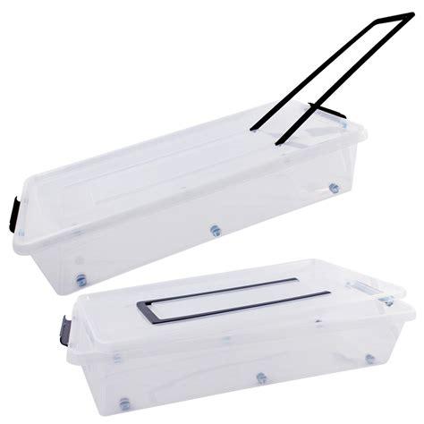 Aufbewahrungsbox Roller by Aufbewahrungsbox Kiste Unterbett Allzweckbox Deckel