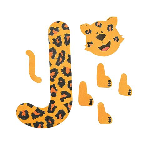letter j crafts preschool and kindergarten 356 | jaguar template for letter j craft