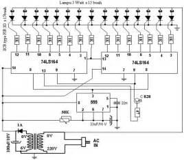 Rangkaian Lampu Berjalan 5 Watt