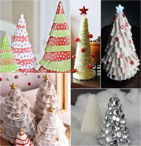 christmas tree craft ideas  diy tabletop christmas