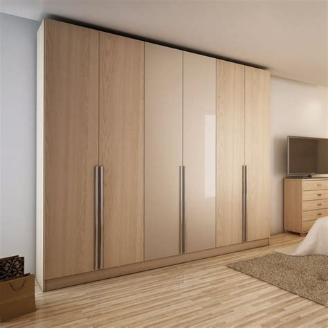 manhattan comfort eldridge 4 drawer armoire in oak vanilla