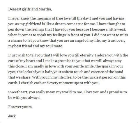 sample love letter  girlfriend   documents  word
