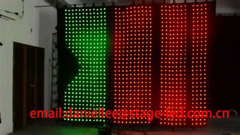 p100mm 3x3m stage backdrop curtain light led