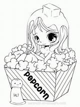 Coloring Popcorn Pages Popular sketch template