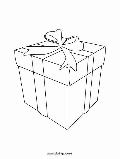 Gift Box Coloring Template Christmas Coloringpage Eu