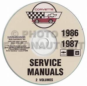 1986 Corvette Repair Shop Manual Original