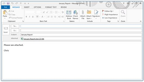 Sending Resume Email Exle by The Vba Guide To Sending Excel Attachments Through Outlook The Spreadsheet Guru