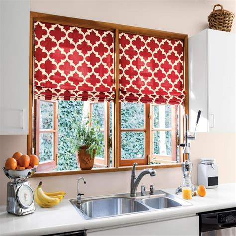 kitchen red kitchen curtains interior design with white countertop design and stainless faucet